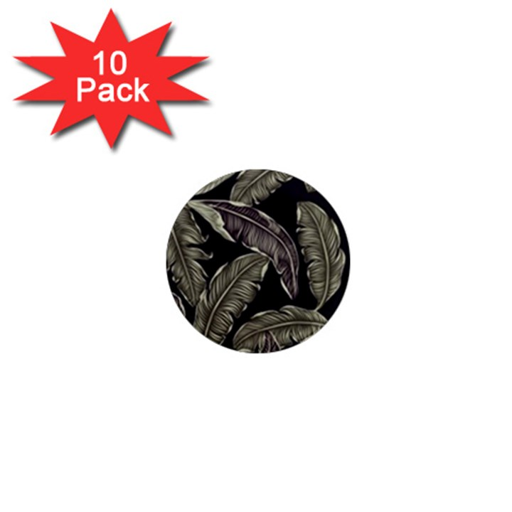 Jungle Leaves Tropical Pattern 1  Mini Magnet (10 pack)
