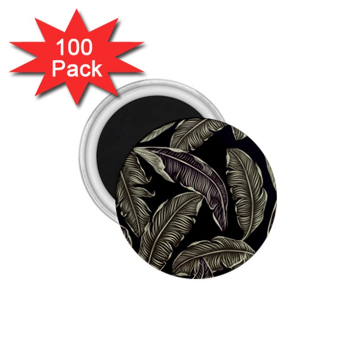Jungle Leaves Tropical Pattern 1.75  Magnets (100 pack)