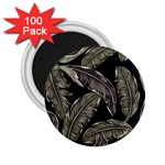 Jungle Leaves Tropical Pattern 2.25  Magnets (100 pack)  Front