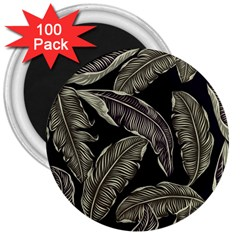 Jungle Leaves Tropical Pattern 3  Magnets (100 Pack) by Nexatart