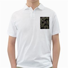 Jungle Leaves Tropical Pattern Golf Shirt