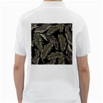 Jungle Leaves Tropical Pattern Golf Shirt Back