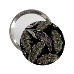 Jungle Leaves Tropical Pattern 2 25  Handbag Mirrors