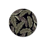 Jungle Leaves Tropical Pattern Magnet 3  (Round) Front