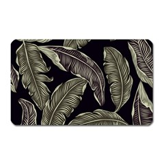 Jungle Leaves Tropical Pattern Magnet (rectangular) by Nexatart