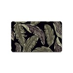 Jungle Leaves Tropical Pattern Magnet (Name Card) Front