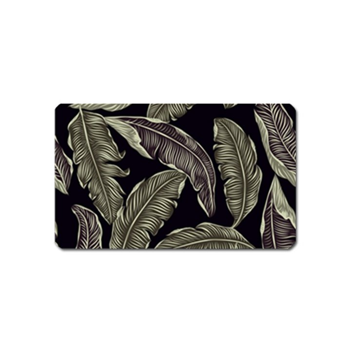 Jungle Leaves Tropical Pattern Magnet (Name Card)