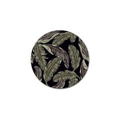 Jungle Leaves Tropical Pattern Golf Ball Marker by Nexatart