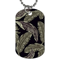 Jungle Leaves Tropical Pattern Dog Tag (two Sides) by Nexatart
