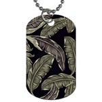 Jungle Leaves Tropical Pattern Dog Tag (Two Sides) Back