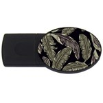 Jungle Leaves Tropical Pattern USB Flash Drive Oval (2 GB) Front
