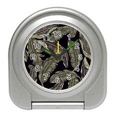 Jungle Leaves Tropical Pattern Travel Alarm Clock