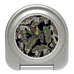 Jungle Leaves Tropical Pattern Travel Alarm Clock Front