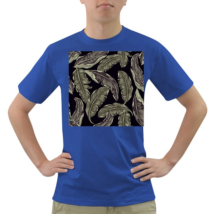 Jungle Leaves Tropical Pattern Dark T-Shirt