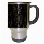 Jungle Leaves Tropical Pattern Travel Mug (Silver Gray) Right