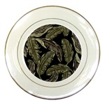 Jungle Leaves Tropical Pattern Porcelain Plates Front