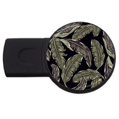 Jungle Leaves Tropical Pattern Usb Flash Drive Round (4 Gb)