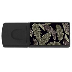 Jungle Leaves Tropical Pattern Rectangular Usb Flash Drive by Nexatart