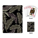 Jungle Leaves Tropical Pattern Playing Cards Single Design Back