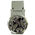 Jungle Leaves Tropical Pattern Money Clip Watches Front