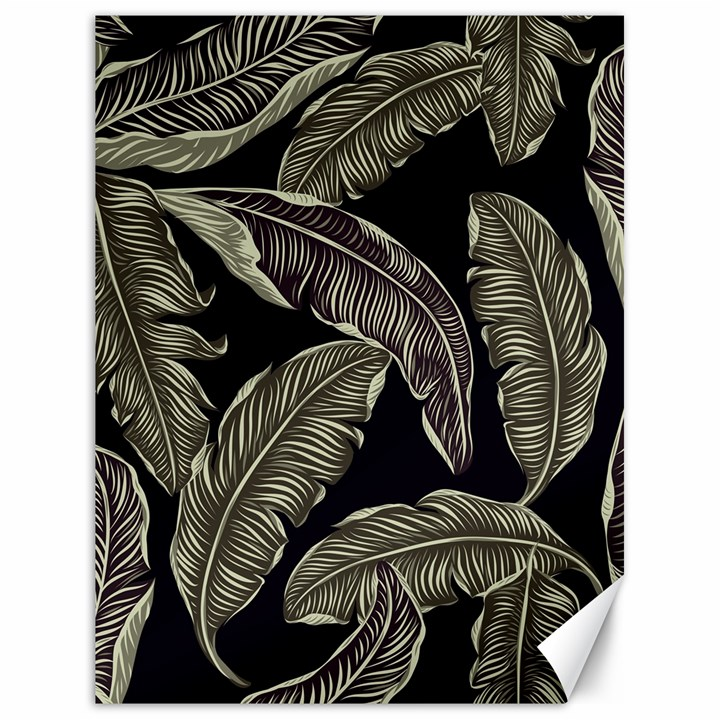 Jungle Leaves Tropical Pattern Canvas 18  x 24