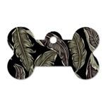 Jungle Leaves Tropical Pattern Dog Tag Bone (One Side) Front