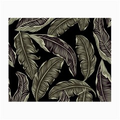 Jungle Leaves Tropical Pattern Small Glasses Cloth (2 Side)