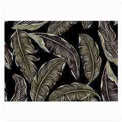 Jungle Leaves Tropical Pattern Large Glasses Cloth by Nexatart