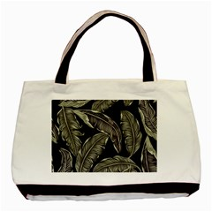 Jungle Leaves Tropical Pattern Basic Tote Bag (two Sides) by Nexatart