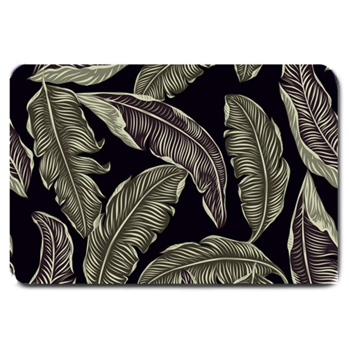 Jungle Leaves Tropical Pattern Large Doormat