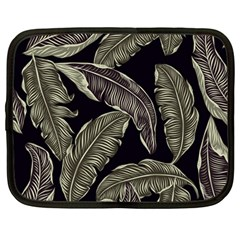 Jungle Leaves Tropical Pattern Netbook Case (large)
