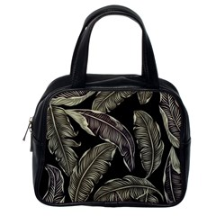 Jungle Leaves Tropical Pattern Classic Handbag (one Side)