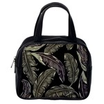Jungle Leaves Tropical Pattern Classic Handbag (One Side) Front