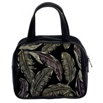 Jungle Leaves Tropical Pattern Classic Handbag (Two Sides) Front