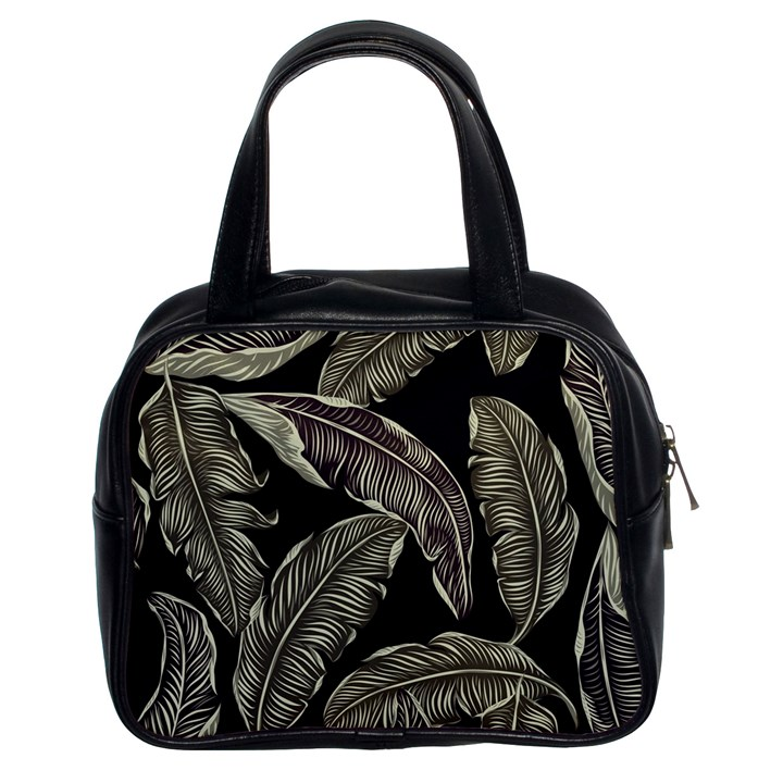 Jungle Leaves Tropical Pattern Classic Handbag (Two Sides)