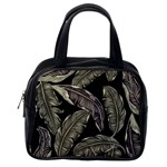 Jungle Leaves Tropical Pattern Classic Handbag (Two Sides) Back