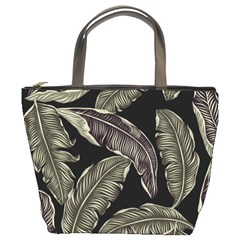 Jungle Leaves Tropical Pattern Bucket Bag