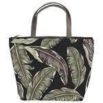 Jungle Leaves Tropical Pattern Bucket Bag Front