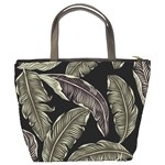 Jungle Leaves Tropical Pattern Bucket Bag Back