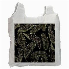 Jungle Leaves Tropical Pattern Recycle Bag (two Side) by Nexatart
