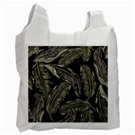 Jungle Leaves Tropical Pattern Recycle Bag (Two Side) Front