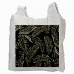 Jungle Leaves Tropical Pattern Recycle Bag (Two Side) Back