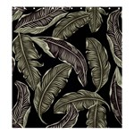 Jungle Leaves Tropical Pattern Shower Curtain 66  x 72  (Large)  58.75 x64.8  Curtain