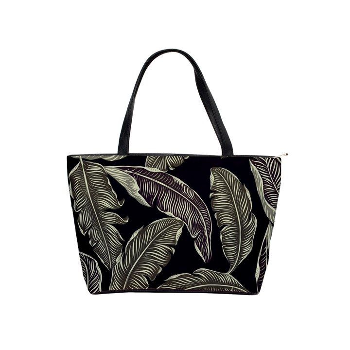 Jungle Leaves Tropical Pattern Classic Shoulder Handbag