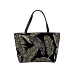 Jungle Leaves Tropical Pattern Classic Shoulder Handbag Back