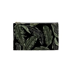 Jungle Leaves Tropical Pattern Cosmetic Bag (small)