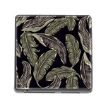 Jungle Leaves Tropical Pattern Memory Card Reader (Square 5 Slot) Front