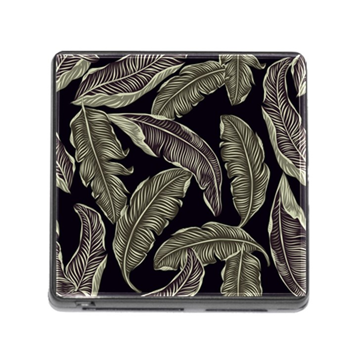 Jungle Leaves Tropical Pattern Memory Card Reader (Square 5 Slot)