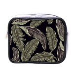 Jungle Leaves Tropical Pattern Mini Toiletries Bag (One Side) Front