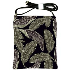 Jungle Leaves Tropical Pattern Shoulder Sling Bag by Nexatart
